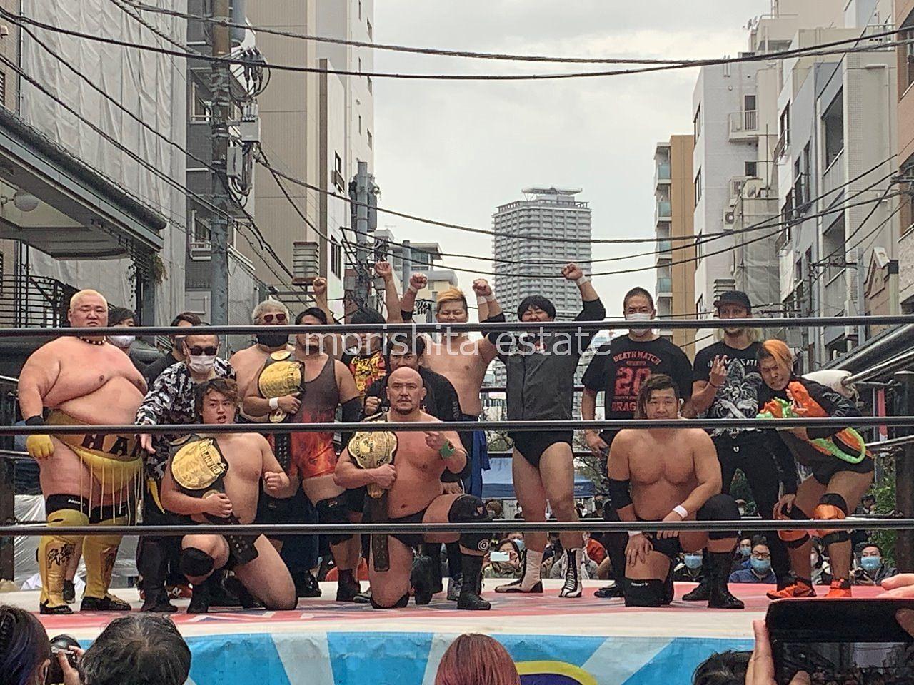 高橋のらくろード のら天収穫祭 大日本プロレス 写真