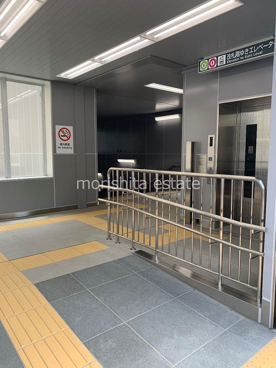 大江戸線 新宿線 森下駅 工事 A3出口 写真
